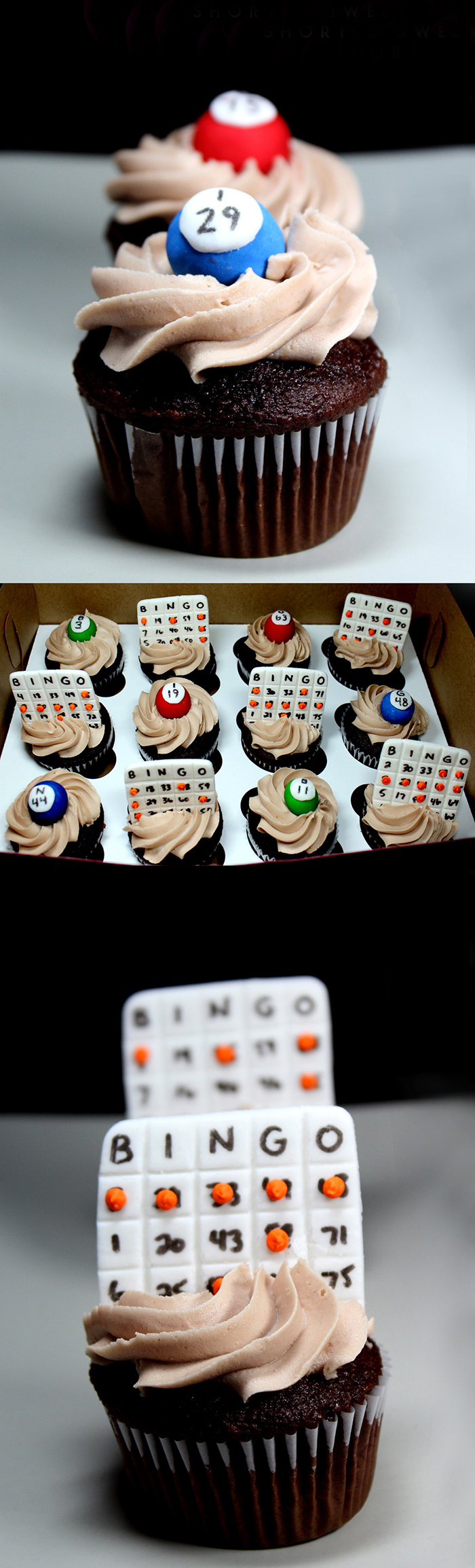 Adorable Bingo cupcakes!