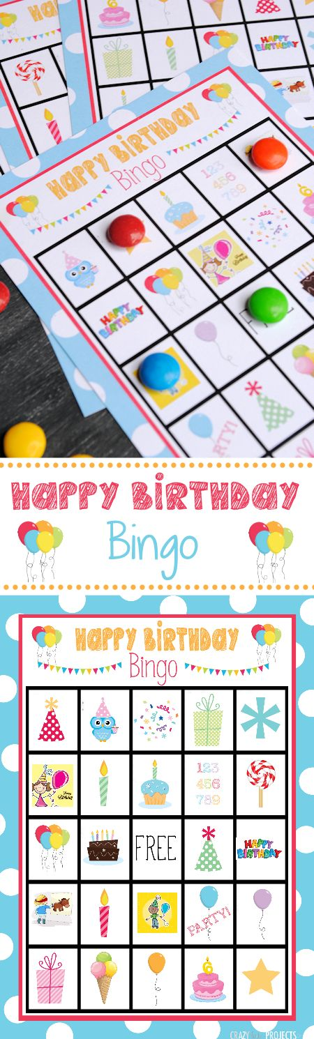 Birthday Bingo Cards!