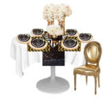 Black And Gold Modern Table