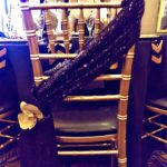 Black sequin chair sash