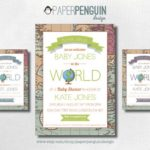 Cute Welcome To The World Baby Shower Invite