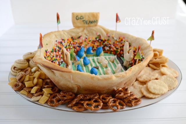 Cute dessert Football statdium