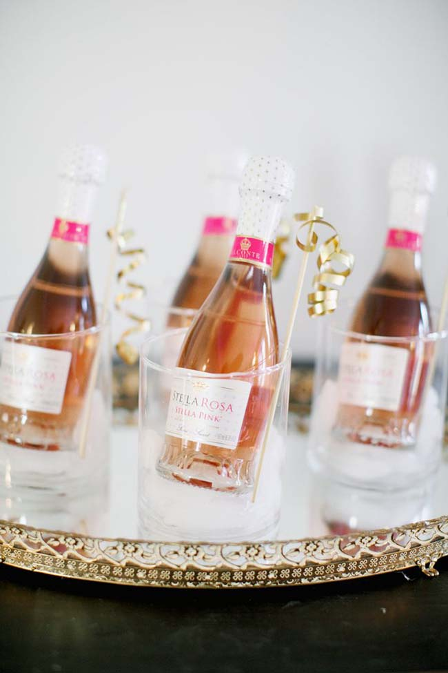 Cute rose champagne for new years