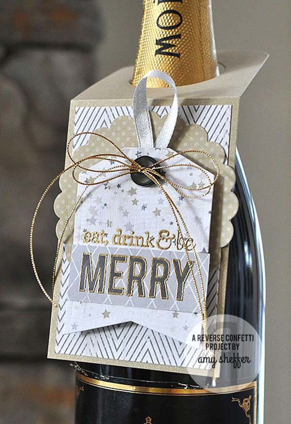 Eat Drink And Be Merry New Years Eve Bottle