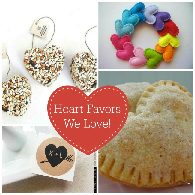 wedding and party heart favors
