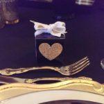 Mini Gold Glitter Heart Favor Boxes