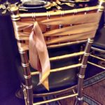 Ribbon Tied Gold Chair details, love this!