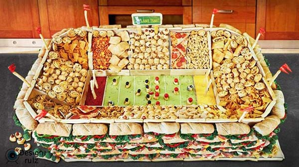 Snack Stadium with all of the fixins