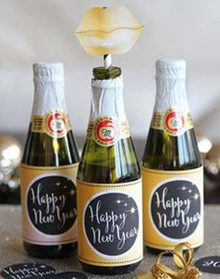 This this idea for Champagne for new years