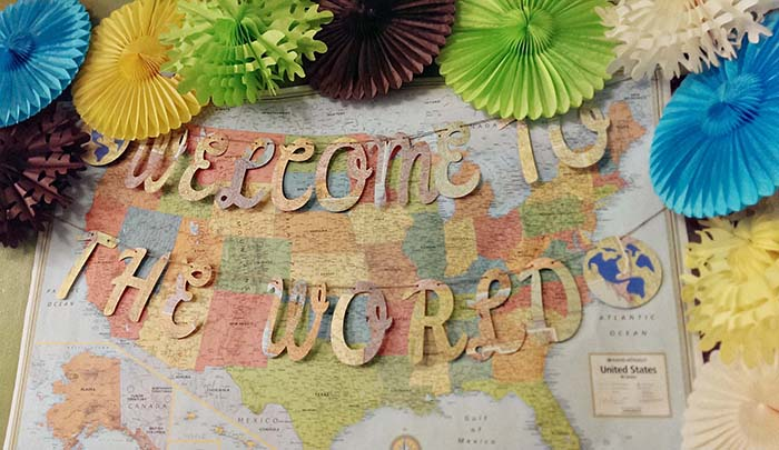 Welcome to the world baby shower banner