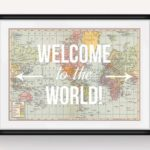 Welcome to the world baby shower sign