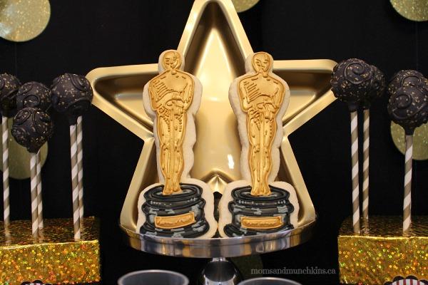 Academy Award Oscar cookies!