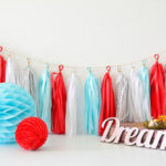 Circus Themed tassel garland