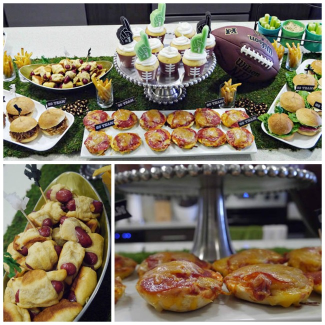 Football Party Snack Table- B. Lovely Events