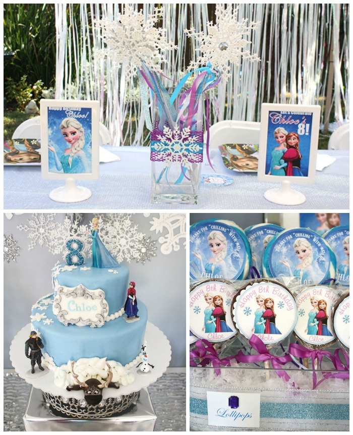 Frozen Party Decor and Cake!