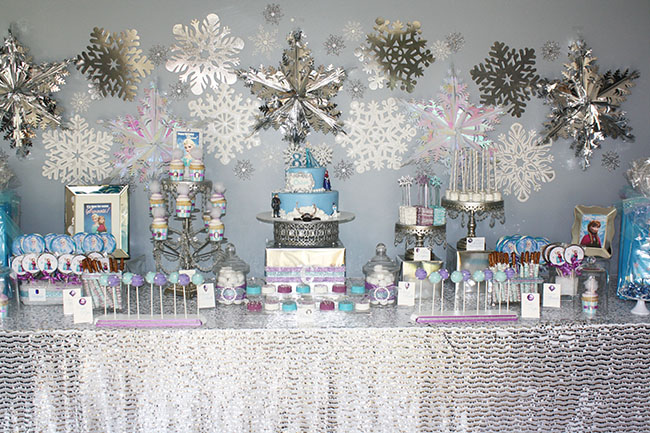 Frozen Themed Birthday Party With Some Lovely Details