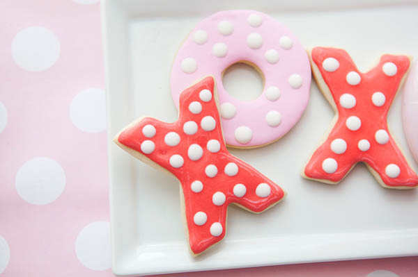 Fun XOXO cookies! Perfect for valentines day