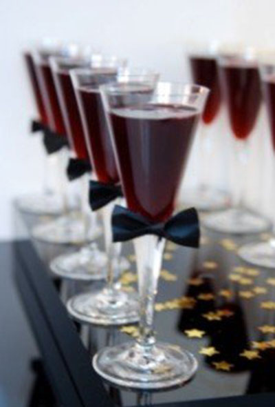 Love these bow tie drinks for the oscars