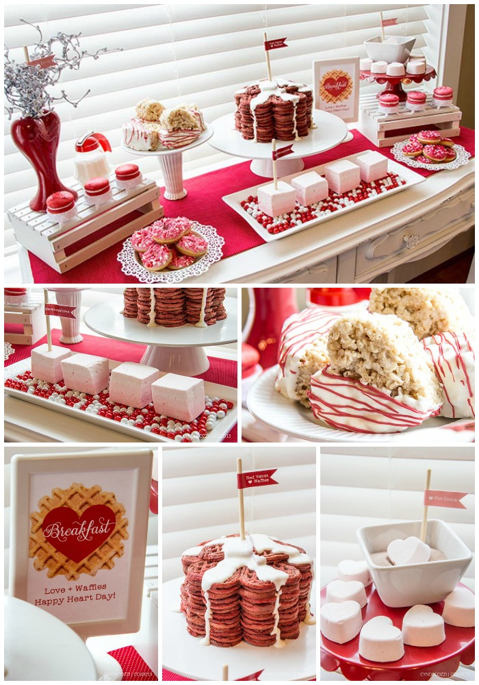 Lovely Valentines Day Breakfast With Cute Cute Details! - B. Lovely Events