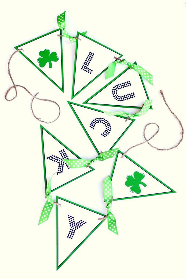 Lucky Banner for St. Patricks Day