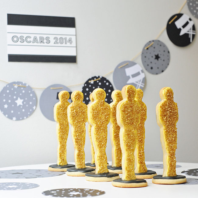 Oscar Party Cookie Statues