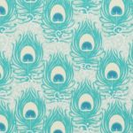 Peacock fabric Zazzle