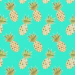 Pinapple fabric zazzle