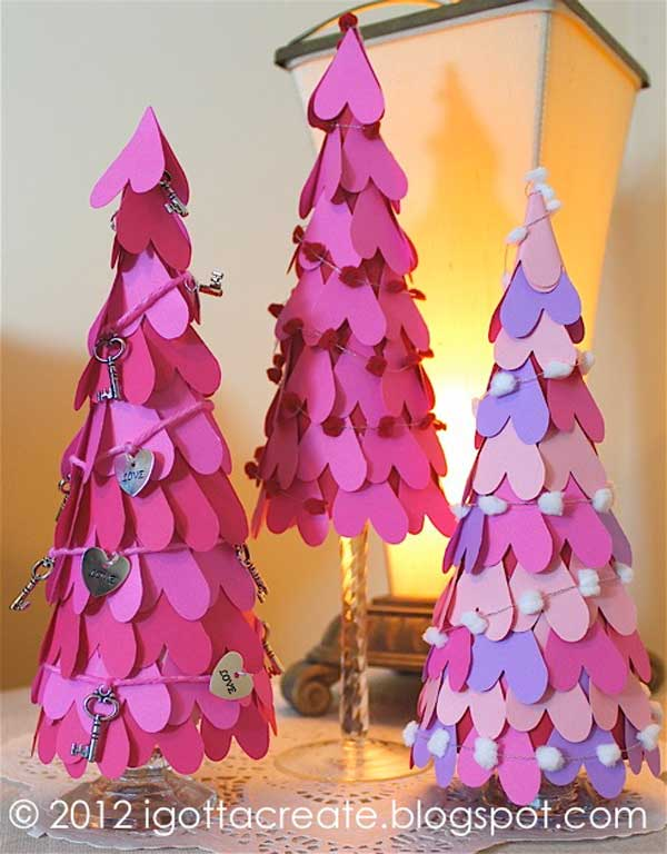 Super Cute Valentines Trees