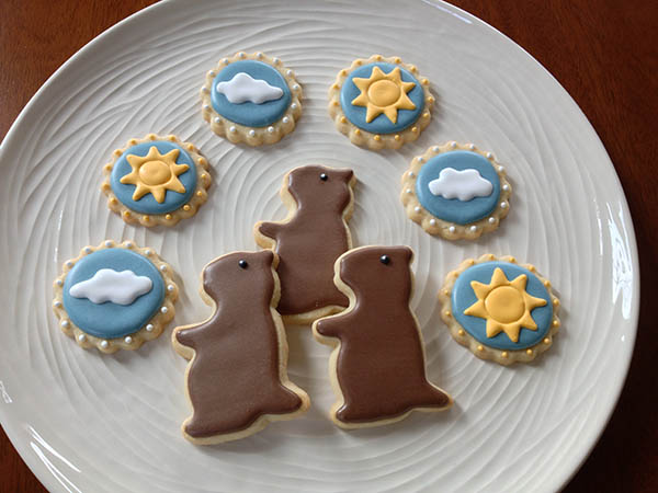 These are such amazing groundhog's day cookies!