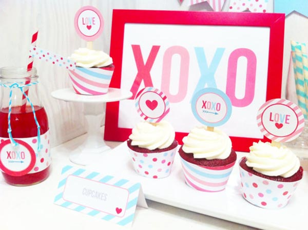 XOXO Valentine Party pritnables