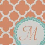 Zazzle monogram fabric