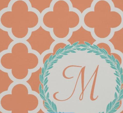 Zazzle monogram fabric