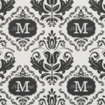 damask monogram fabric