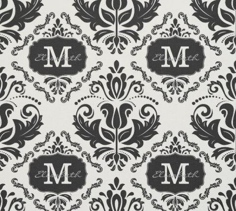 damask monogram fabric