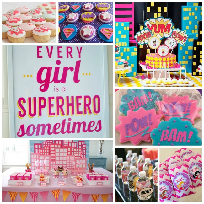 Amazing Girls Superhero Party Ideas! - B. Lovely Events
