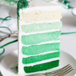 Fabulous green Ombre cake that is perfect for St. Patrick's Day!