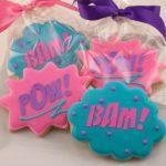 Girls Super hero cookies
