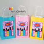 Girls Super hero party favor bags