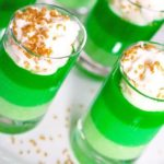 Green Ombre jello parfaits St. Patrick's Day