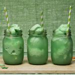 Lime Sherbert Dessert Drinks For St. Patrick's Day