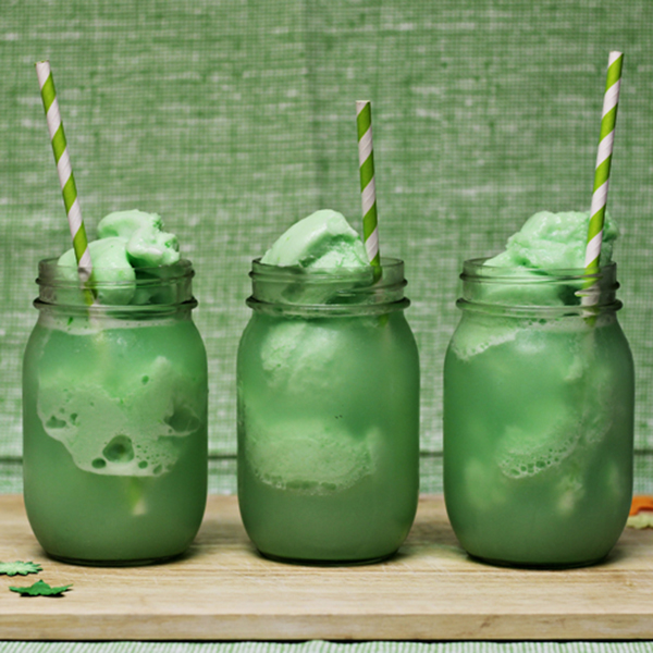 Lime Sherbert Dessert Drinks For St. Patrick's Day