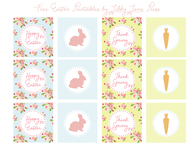 Love this Spring and floral free printable set!