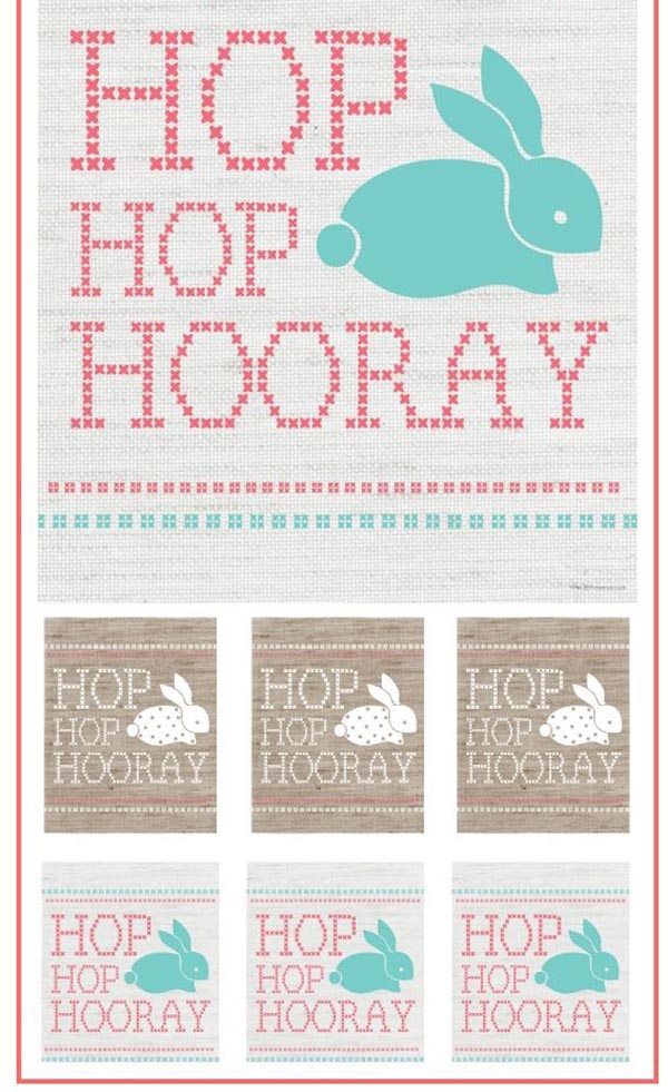 Love this cross stitch themed Free Printable For Easter