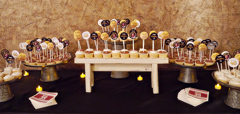 Manly Cupcake Dessert Bar For 40th Birthday