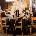 Modern And Elegant black and gold tablescape!