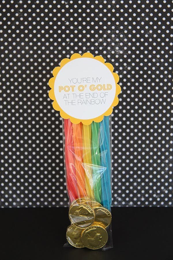 Rainbow Licorice Fun Gift For St. Patrick's Day