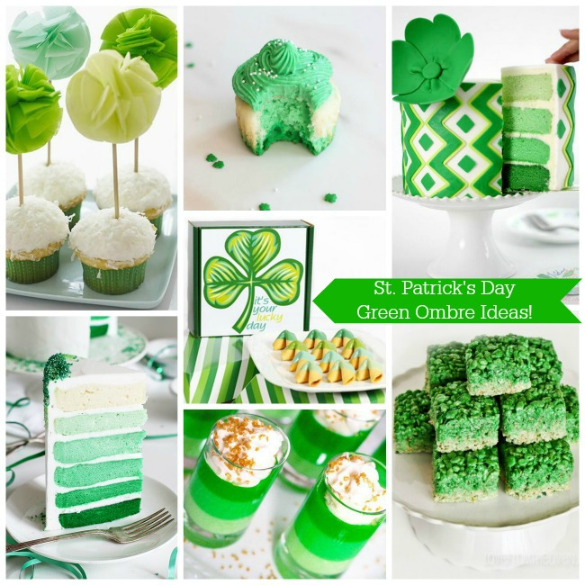 St. Patrick's Day Green Ombre Ideas