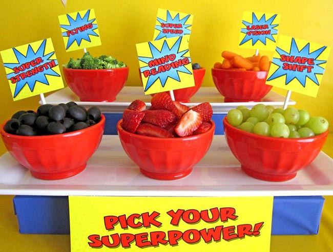 Super hero party food