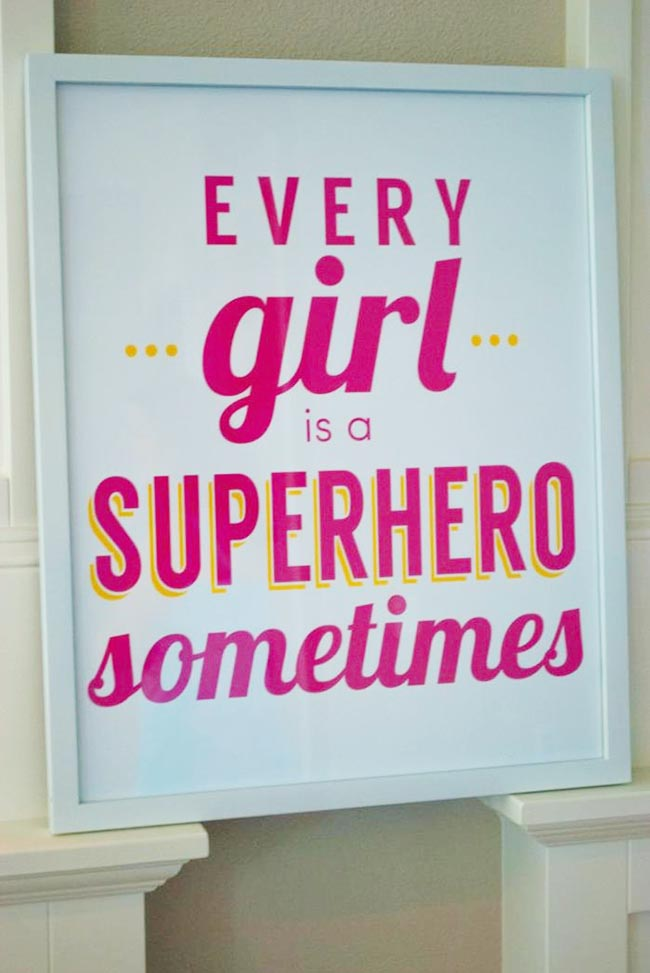 Superhero Girls party sign