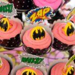 Superhero girls party cupcakes